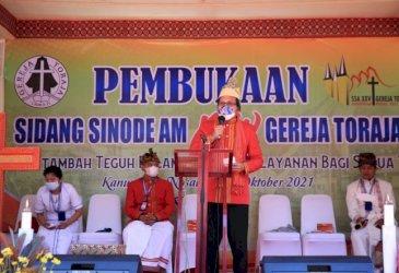 Danny Pomanto Hadiri Pembukaan Sidang Sinode AM XXV Gereja Toraja